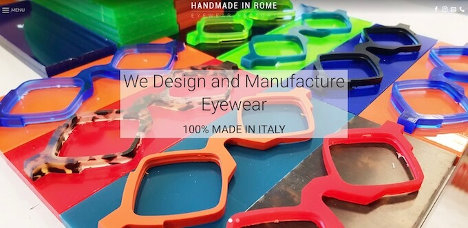 Eyewear Manufacturers in Italy-HADNMADE IN ROME